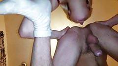 Female licks male ass (00367)
