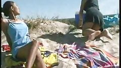 Pissing Lesbians at the Beach