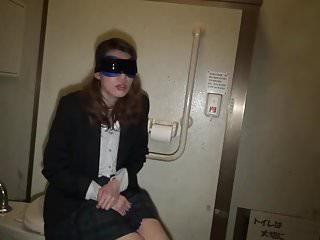 Amateur JPN Wife Public Toilet Gangbang