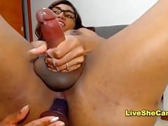 Big tits ebony Tgirl cumshot online