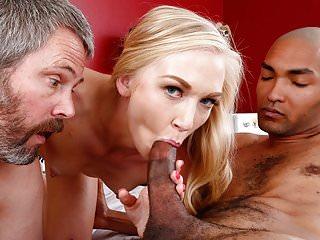 Kara Stone enjoys interracial sex in front of her cuckold