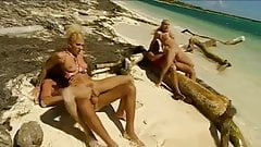 Blondes on a tropical beach