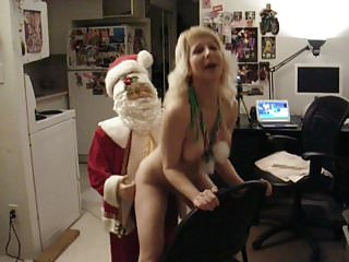 Cindysinx fucking Santa Claus Reindeer Style from behind