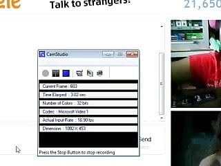 Yo Teen Play With Fake Girl On Omegle While Working