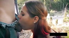 Amazing Oral Creampie Outside