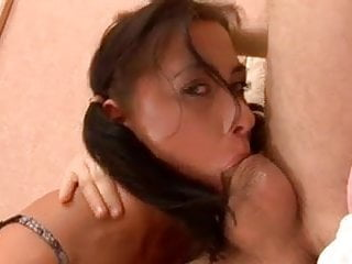 Hot Russian slut gets her throat and cunt fucked DTD