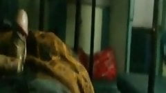 Indian boy flash dick cum on train while girl in next side