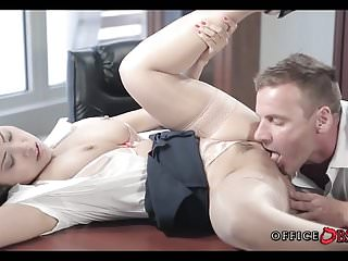 Fucking with Asian Coworker in his locked Office