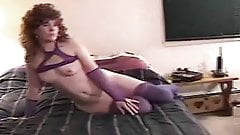 BITCH BELLY MILF TEASES NAKED MAN...MAKES HIM LICK PUSSY