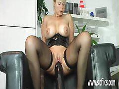 gigantic dildo fucking mature amateur milf
