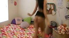 Horny Teen Neighbor Seduced Me In A Strip Dance