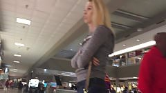 DW Blonde teen in gray sweatshirt at Cinnabon 1