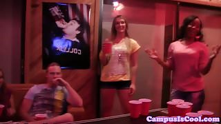 College partygirl pussyfucked after sucking