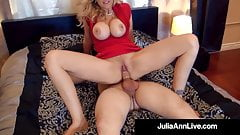 Elegant Milf Julia Ann Gets 2 Cocks In Her Mouth & Pussy!