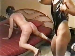 My slut bitch whipped hard by a mistress