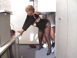 Office grannies shared amateur