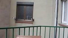 Spanish loud moaning heard on the balcony