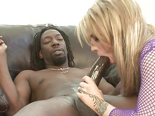 Big Black Boner Buried In Blonde S Beautiful Butt