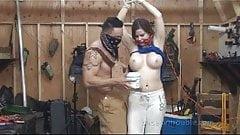 Sexy Couple making Bondage video