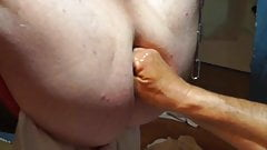 Assplay and fisting in the sling