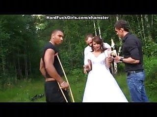 Groom fucks maid of honor - The groom the bride fucked hard in the woods