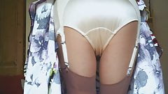 Retro garter Belt And Panties