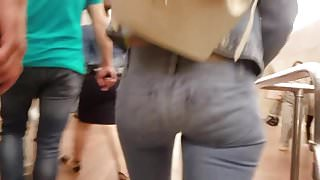 Nice miniature girl with hot round ass