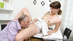 Tricky Old Teacher - Marisa is struggling for a better grade