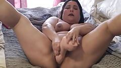 Fat bbw amatuer enjoying huge cock