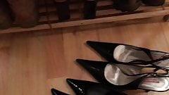 Sexy neighbour's shoe rack