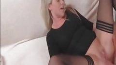 Check my MILD - Blonde suoer hottie wife in stockings sex