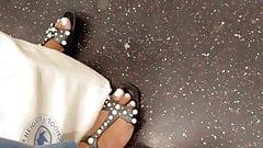Ebony feet white toes