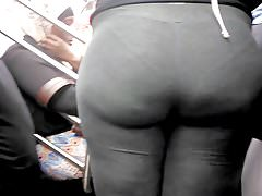 Bubble Butt Ebony Teen in Grey Sweats