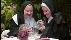 Horny priest spying on two nuns