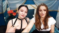 Gorgeous Lesbians Drilling Their Snatch On Cam