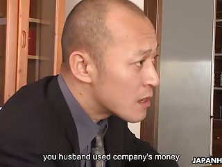 Asian babe has to fuck to save her money grabbing hubby