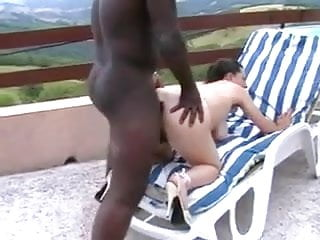 Black Guy Busts Nut On Fine Hairy Bush After Anal