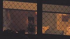 Hidden cam - Trough window Teen Getting Ready for Bed