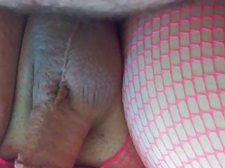 Amateur blonde sissy cums while fucked