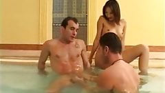 Jacuzzi Bisexual MMF Raw