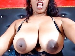 Large Dark Areola And Nipples On Big Natural Tits