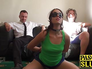 Liz busty - Hot brunette liz rainbow getting spanked and drilled roughly