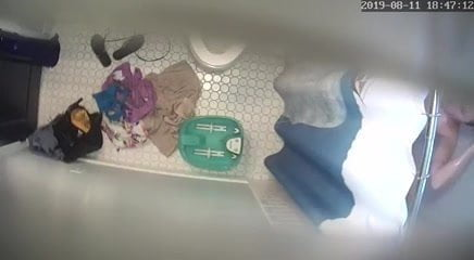 Mother altering in lavatory – hidden ceiling cam (hacked)