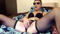 Sexy Logan Male Stripper Spread Ass Fishnets