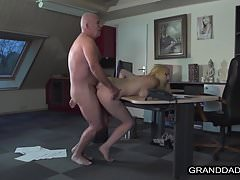 Hot chick Liz Rainbow fucked hard by old man William