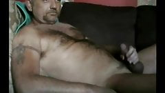 Horny hot daddy bear shoot cum far