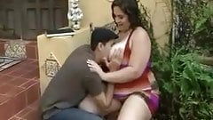 Chubby brunette  Poses Blows and fucks