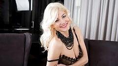 55yo. Lativian milf Sylvie masturbating her shaved pussy's Thumb