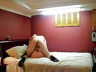 Cute fatty fucked on bed by boyfriend