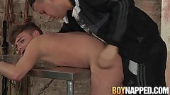 Rough ass banging with a young twink and his deviant master